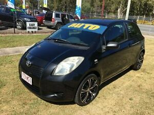 2008 Toyota Yaris NCP90R 08 Upgrade YR Black 4 Speed Automatic Hatchback Clontarf Redcliffe Area Preview