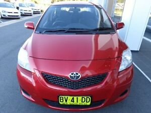 2009 Toyota Yaris NCP93R 08 Upgrade YRS Red Metallic 4 Speed Automatic Sedan Port Macquarie Port Macquarie City Preview