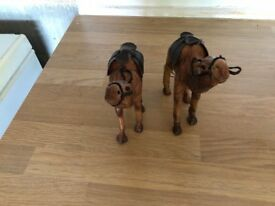 2 leather camels for sale