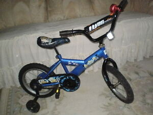"14"" SUPER CYCLE BIKE COMPLETE WITH TRAINING WHEELS AND BELL"