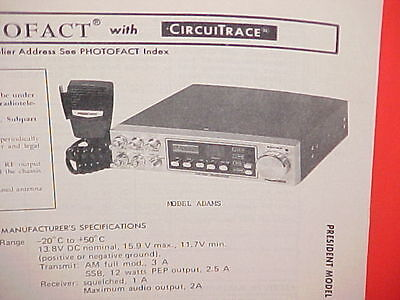 President Adams CB Radio Capacitor Kit