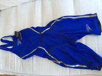 NEW Swimsuit -Speedo Women's Fastskin LZR Racer X Open Back Kneeskin- Blue