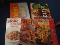 Selection of 5 cookery books