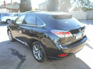 2013 Lexus RX450H GYL15R MY12 Luxury Black 6 Speed Constant Variable Wagon Hybrid Bentleigh East Glen Eira Area Preview