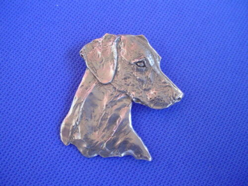 Rhodesian Ridgeback Pin Head Study  Pewter Dog Jewelry by Cindy A. Conter 60C