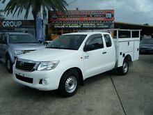 2012 Toyota Hilux GGN15R MY12 SR White 5 Speed Automatic Extracab Homebush Strathfield Area Preview
