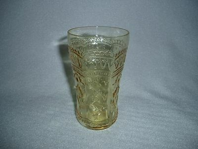 Amber Patrician Spoke Depression Glass Juice Tumbler, FREE U.S. SHIPPING