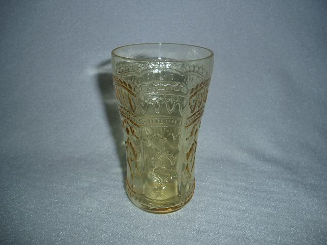 Amber Patrician Federal Depression Glass Juice Tumbler