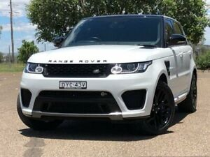2015 Land Rover Range Rover Sport L494 15.5MY V8SC CommandShift SVR White 8 Speed Sports Automatic Hillvue Tamworth City Preview