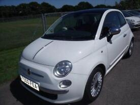 FIAT 500 LOUNGE - FSH White Manual Petrol, 2008