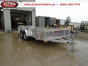 BUILT TO LAST, TANDEM AXLE 16' ALUMINUM UTILITY TRAILER!