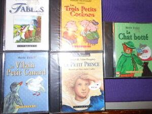 Cassettes et livres audio fables pour enfant