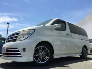 2007 Nissan Elgrand ME51 Rider White 4 Speed Automatic Wagon Kingston Logan Area Preview