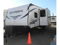 REDUCED $3K- NEW 2014 RAZORBACK 29ft. TOY HAULER
