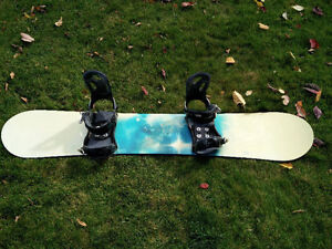 24 Seven Snowboard and Bindings Size 151