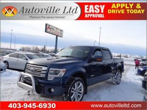 """2014 FORD F150 LIMITED 3.5ECO LEATHER NAV ROOF B.CAM 22"""" RIMS"""