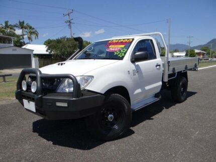 2010 Toyota Hilux KUN26R 09 Upgrade SR (4x4) White 5 Speed Manual Cab Chassis Bungalow Cairns City Preview
