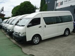 2012 Toyota Hiace KDH223R MY12 Upgrade Commuter White 4 Speed Automatic Bus Canada Bay Canada Bay Area Preview