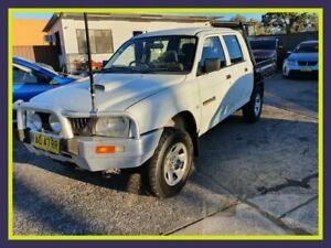 2005 Mitsubishi Triton MK MY05 GLX White Manual Utility Lansvale Liverpool Area Preview
