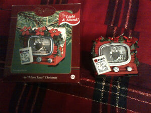 I Love Lucy Christmas Ornament with light and sound