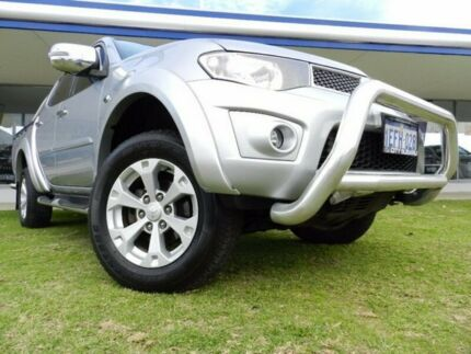 2013 Mitsubishi Triton MN MY13 GL-R Double Cab Silver 4 Speed Sports Automatic Utility