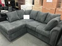 --- CLEAR OFFER SALE --- NEW BYRON JUMBO CORDED CORNER SOFA OR 3+2 SOFA SET AVAILABLE NOW IN STOCK