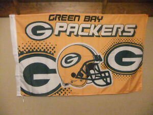 NFL football team flags- Packers Patriots Steelers