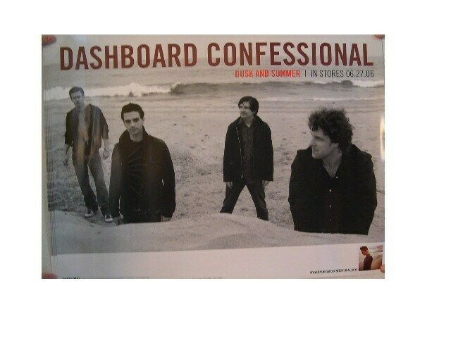 Dashboard Confessional 2 Sided Poster Dusk & Summer And