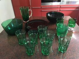 Glass entertaining set
