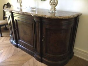 Beautiful and Unique Sideboard with Granite Top for Sale