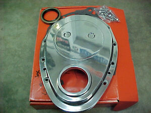 SBC Small Block Chevy Polished Aluminum timing chain cover ONLY
