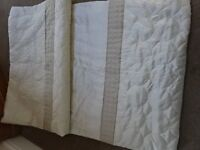 Single size Bedspread. Dunhelm Circles Latte Bedspread. New Condition. Unused.