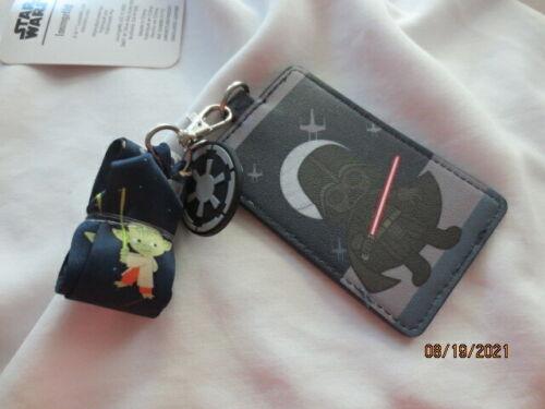 Disney Loungefly Star Wars CHIBI DARTH VADER ID Holder Retractable Lanyard NWT