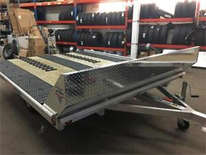 BEAR TRACK ALUMINUM SLED TRAILER!  READY FOR THE SNOW!