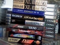 NEW CASSETTE TAPES MAXELL XLII XL2, SONY CDit II, SONY UX TURBO, MITSUBISHI, MEMOREX DBX, BASF, TDK+