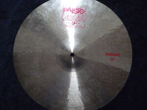 "CYMBALES PAISTE MEDIUM CRASH 18"" ET 20"""