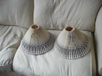 LAMPSHADES FOR TABLE LAMPS PAIR TWO *LAURA ASHLEY*BEIGE *GOOD CONDITION*CHELSEA LONDON SW10 9QE*