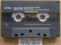A2Z TDK MA C90 90 METAL TYPE 4 IV GUARANTEED CASSETTE TAPES 1990-91 W/ CARDS CASES LAB's & FREE P&P