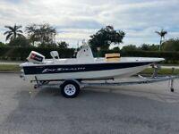 2005 VIP 188 Bay Stealth Fishing Boat Johnson 115 Mechanics Special Trailer