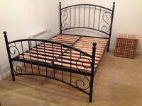 Like-New Metal Frame Double Bed & Mattress