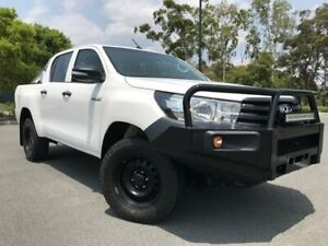 2016 Toyota Hilux GUN125R Workmate Double Cab White 6 Speed Sports Automatic Utility Arundel Gold Coast City Preview
