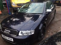 BREAKING 2003 AUDI A4 S LINE 2.0l fsi, 5 speed manual, sport, non turbo, for parts tm