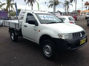 2008 Mitsubishi Triton ML MY09 GL White 5 Speed Manual Cab Chassis Broadmeadow Newcastle Area Preview