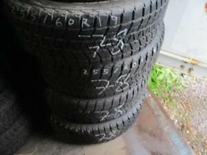 255/60 R19 BRIDGESTONE BLIZZAK WINTER TIRES USED SNOW TIRES (MATCHING SET OF 4 - $400.00 for ALL 4) - APPROX. 80% TREAD
