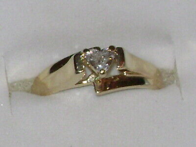 10k Gold Diamond Solitaire Ring - 10K Yellow Gold Heart Cut Natural Diamond Solitaire Ring