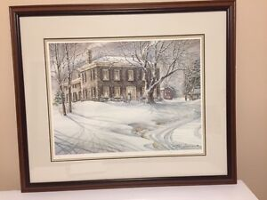 "TRISHA ROMANCE ""WINTER TWILIGHT"" SIGNED/NUMBER PRINT"