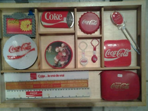 Collection divers objets Coka Cola