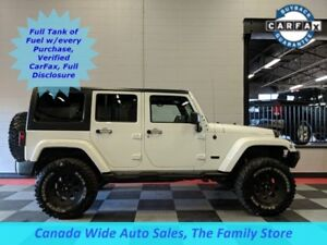 2015 Jeep Wrangler Unlimited 4X4 Sahara, Navigation, Dual Tops,