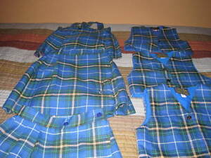 Nova tartan kilt skirts and vests