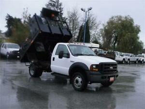 2006 FORD F-450 SUPER DUTY FLAT DECK DUALLY 2WD DUMP TRUCK